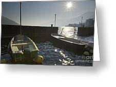 Small Port In Backlight Greeting Card