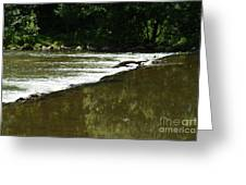 Small Ripples After Falls Greeting Card