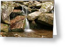 Small Rock Falls Greeting Card