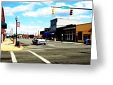 Small Town 3 Greeting Card
