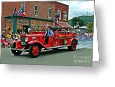 Small Town Fourth Of July Greeting Card