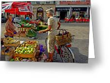 Small Town Market Greeting Card