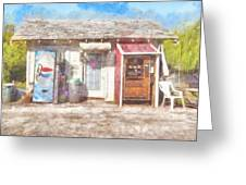 Small Town Pit Stop  Greeting Card