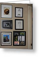 small Wall of Framed Greeting Card