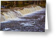 Small Water Fall Greeting Card