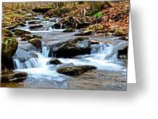 Small Waterfall In Western Pennsylvania Greeting Card