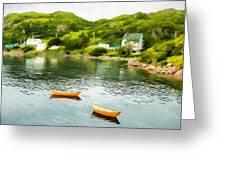 Small Yellow Boats Greeting Card
