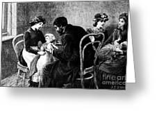 Smallpox Vaccination, 1883 Greeting Card