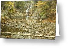 Smalls Falls In Autumn Western Maine Greeting Card