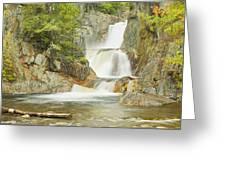 Smalls Falls In Western Maine Panorama Greeting Card