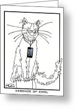 Smart Phone Cat Greeting Card
