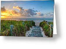 Smathers Beach Sunrise Greeting Card
