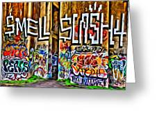 Smell Cash Greeting Card