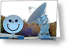 Smiley And 26 West Antennas Greeting Card