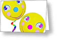 Smiley Face Balloons Greeting Card