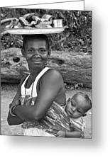 Smiling African Mum And Baby Greeting Card