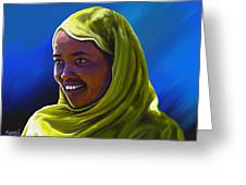 Smiling Lady Greeting Card