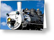 Smiling Locomotive Greeting Card