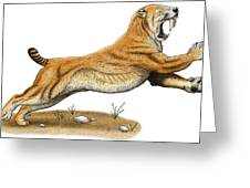 Smilodon Saber-toothed Tiger Greeting Card
