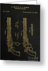 1854 Smith And Wesson Magazine Firearm Patent Art 2 Greeting Card
