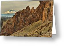 Smith Rock And Cascades Greeting Card