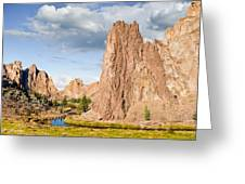 Smith Rock And The Crooked River Greeting Card