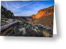 Smith Rock At Sunrise Greeting Card