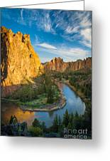 Smith Rock River Bend Greeting Card by Inge Johnsson