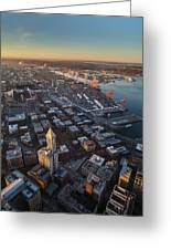 Smith Tower And West Seattle Greeting Card