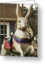 Smithville Carousel Rabbit Greeting Card