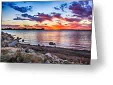 Smithville Lake Sunset Greeting Card