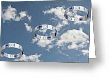 Smoke Rings In The Sky 2 Greeting Card