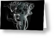 Smoke Skull Greeting Card