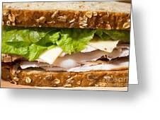 Smoked Turkey Sandwich Greeting Card
