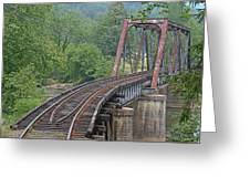Smokey Mountain Railroad Steel Girder Bridge Greeting Card