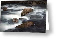 Smokey Mountain Stream In Autumn No.11 Greeting Card
