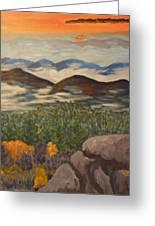 Smokey Mountain Sunset Greeting Card