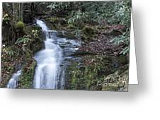 Smokey Mountain Waterfall Greeting Card