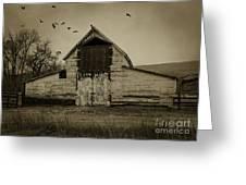 Smokey Prairie Barn  Greeting Card