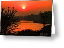 Smokey Sunrise Greeting Card