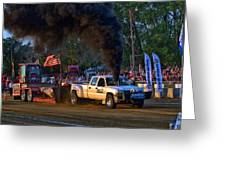 Smokin Diesel Performance Pulling Truck Greeting Card