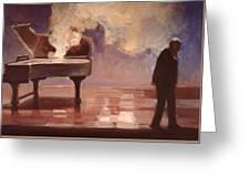 Smokin Piano Greeting Card