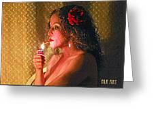 Smoking Hot Greeting Card