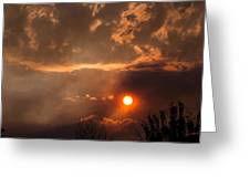 Smoky Clouds Over The Rogue Valley Greeting Card