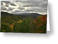 Smoky Mountain Autumn View Greeting Card