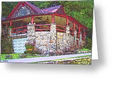 Old Log Cabin - Smoky Mountain Home Greeting Card