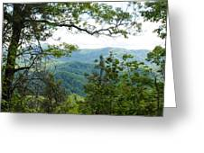 Smoky Mountain View Laurel Falls Trail Greeting Card