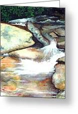 Smoky Mountains Waterfall Greeting Card