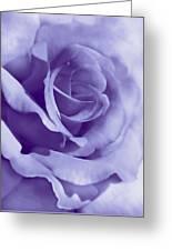 Smoky Purple Rose Flower Greeting Card