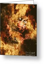 Smoky The Voodoo Clown Doll  Greeting Card
